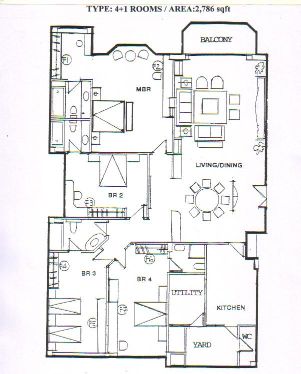Westpoint condominium floor plans for 4 unit condo plans